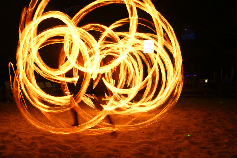 Fire show summer solstice